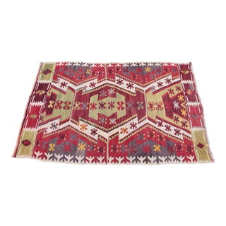 Decorative Vintage Anatolian Kilim - 2′9″ × 10′11″ For Sale