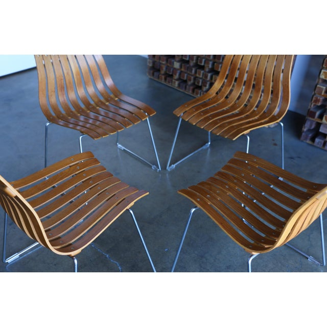 Hove Mobler 1960s Hans Brattrud Scandia for Hove Mobler Dining Chairs - Set of 4 For Sale - Image 4 of 12