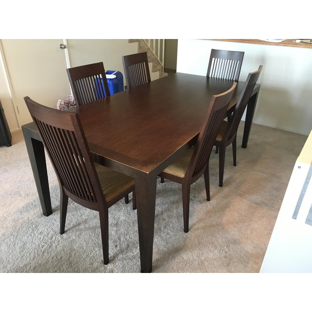 Room & Board Bamboo Timbre Table and 6 Chairs - Image 2 of 8