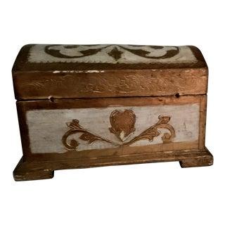 Italian Florentine Treasure Chest Trinket Box For Sale