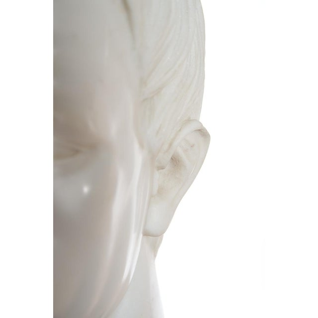 Roman Emperor Marble Bust For Sale - Image 10 of 10