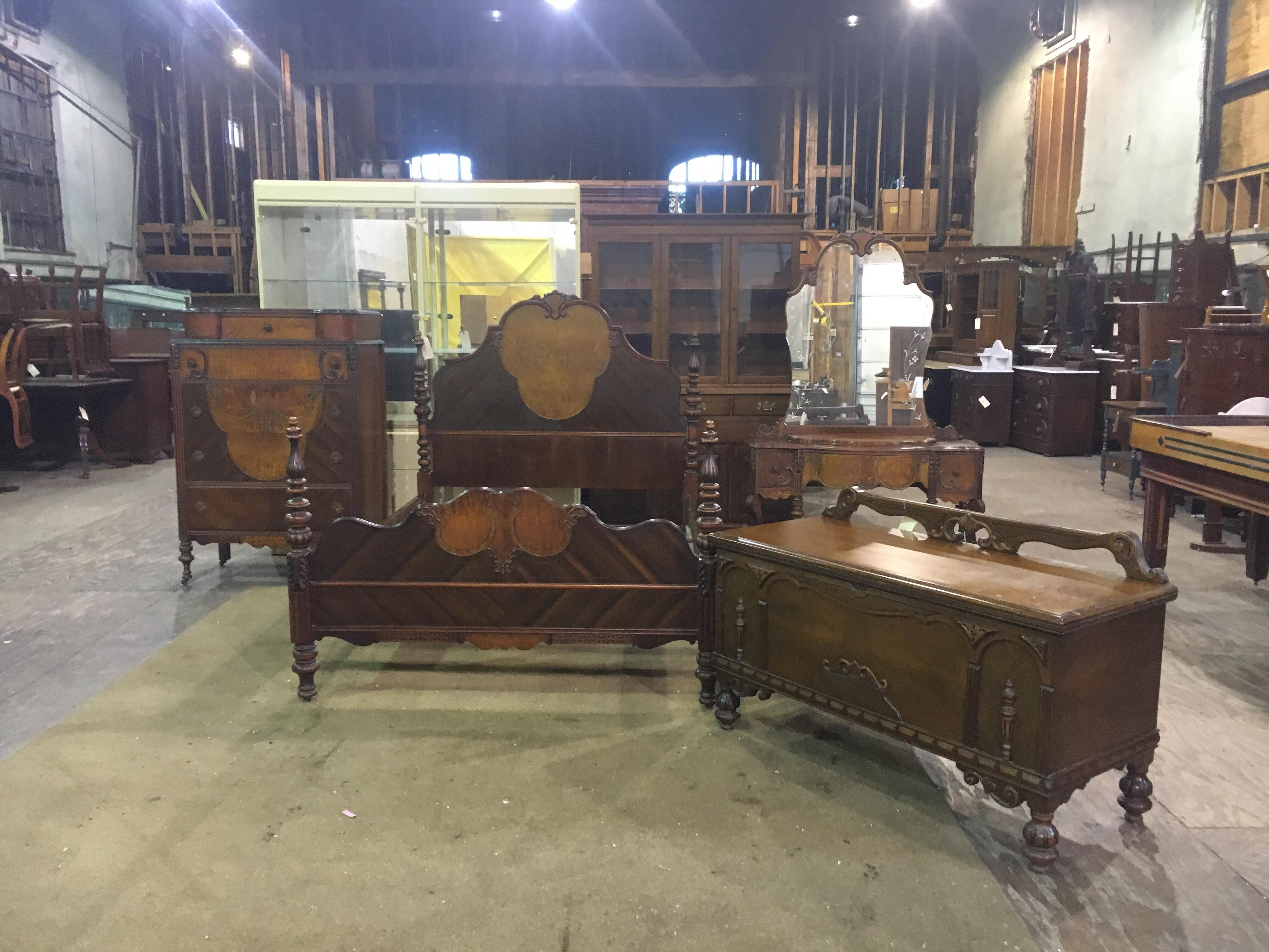 antique bedroom furniture 1930 5 antique 1930 s depression era bedroom set chairish 14019