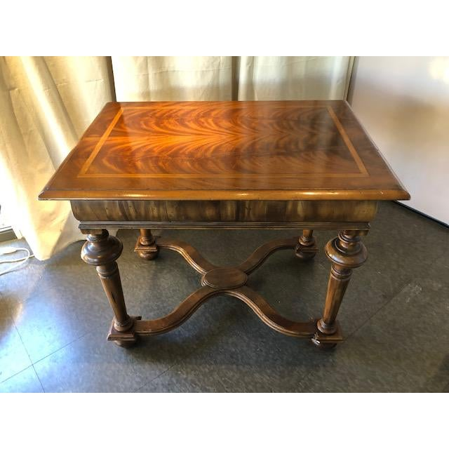 "Brown Ebanista Handcrafted ""Holland"" Lamp Table For Sale - Image 8 of 8"