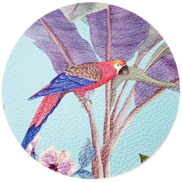 Not Yet Made - Made To Order Palm Beach Paradise by Allison Cosmos Placemats - Set of 4 For Sale - Image 5 of 6