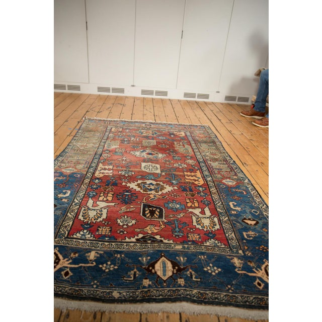 "Vintage Bijar Rug - 4'10"" X 7' For Sale In New York - Image 6 of 13"