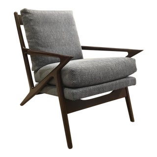Mid-Century Modern Style Duralee Holloway Lounge Chair For Sale