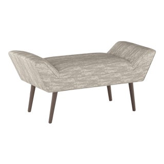 Zara Feather Modern Welted Bench For Sale