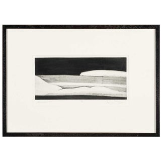 """1970s Margaret Taylor """"Landscape I"""" Abstract Etching For Sale"""