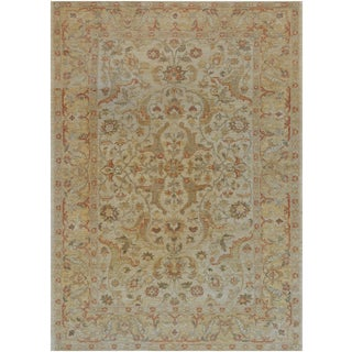 "Mansour Quality Handwoven Agra Rug - 6' X 8'3"" For Sale"