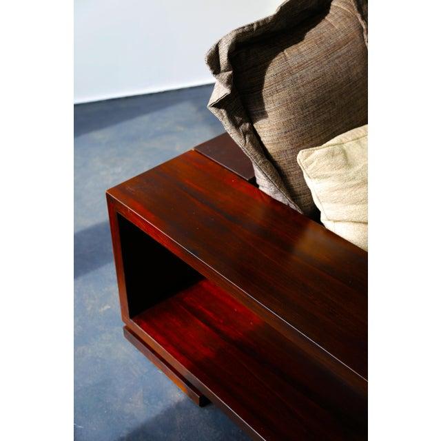 Costantini Patone Custom Modern Sofa in Rosewood For Sale - Image 4 of 7