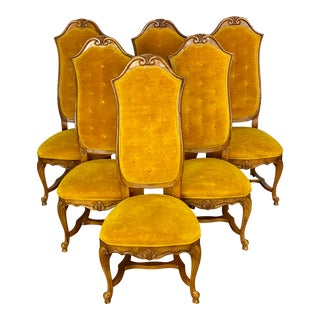 Vintage Italian Regency Style Hibriten Dining Chairs - Set of 6 For Sale