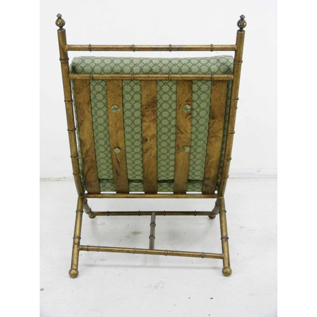 Italian-Style Faux Bamboo Lounge Chair & Ottoman - Image 9 of 9