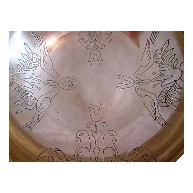 Vintage Brass Kissing Doves Centerpiece Bowl - Image 3 of 6