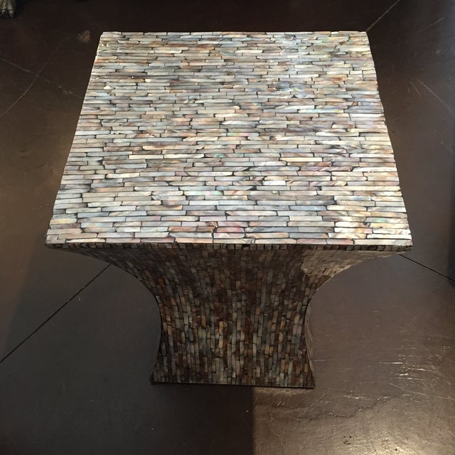 Abalone Shell Mosaic Table - Image 2 of 8