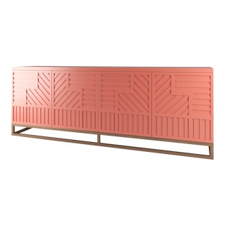 Stria Credenza - Brushed Brass Base, Coral Gables For Sale
