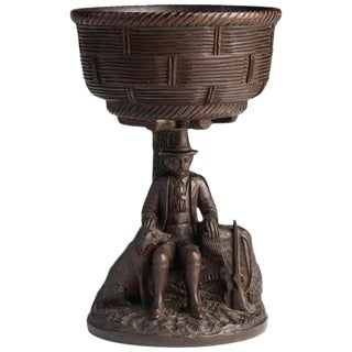Black Forest Carved Walnut Hunting Presentation Cup For Sale