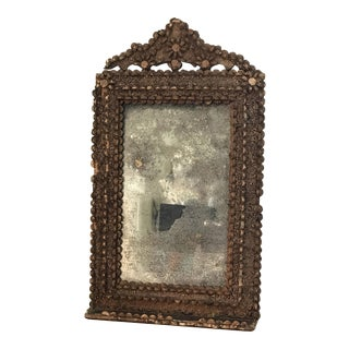 Boho Vintage Cork Wall Mirror