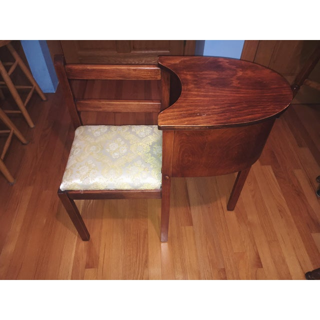 1930s Vintage Chair & Attached Desk For Sale In Detroit - Image 6 of 6