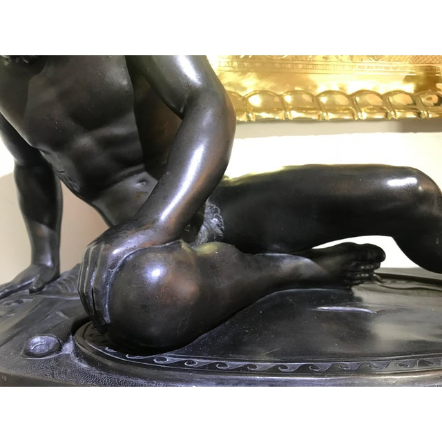"""19th Century """"The Dying Gaul"""" Bronze Statue Signed M Amadoi N 'Napoli' For Sale - Image 11 of 13"""