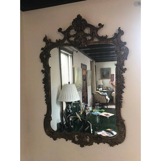 1970s Vintage Milch Carved Giltwood Mirror For Sale - Image 13 of 13