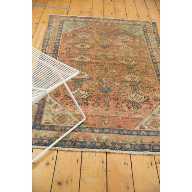 """Cotton Vintage Distressed Malayer Rug - 4' X 6'1"""" For Sale - Image 7 of 13"""