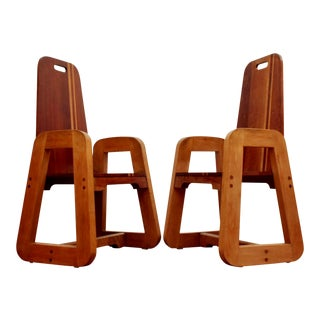Art Deco One-Of-A-Kind Birdseye Maple Chairs, a Pair For Sale