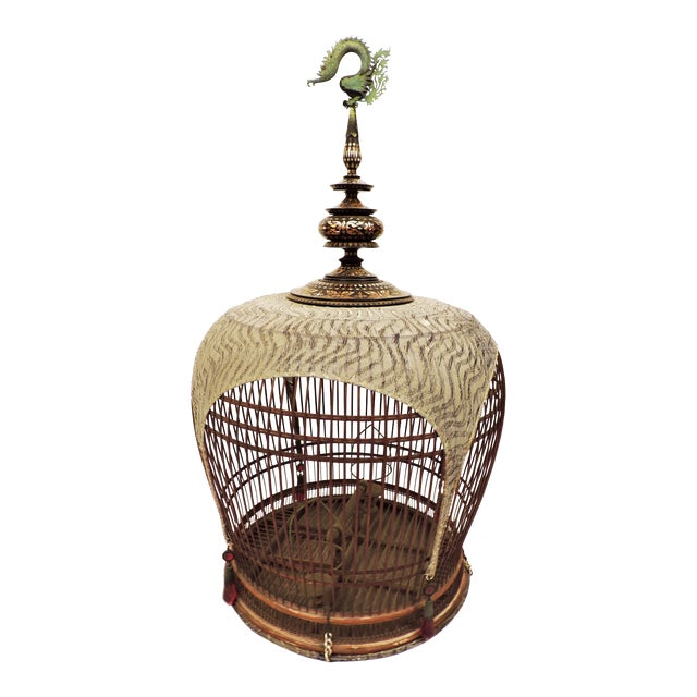 Inlaid Bird Cage from Thailand For Sale