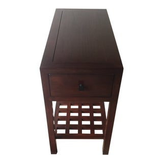 Asian Style Room & Board Side Table For Sale