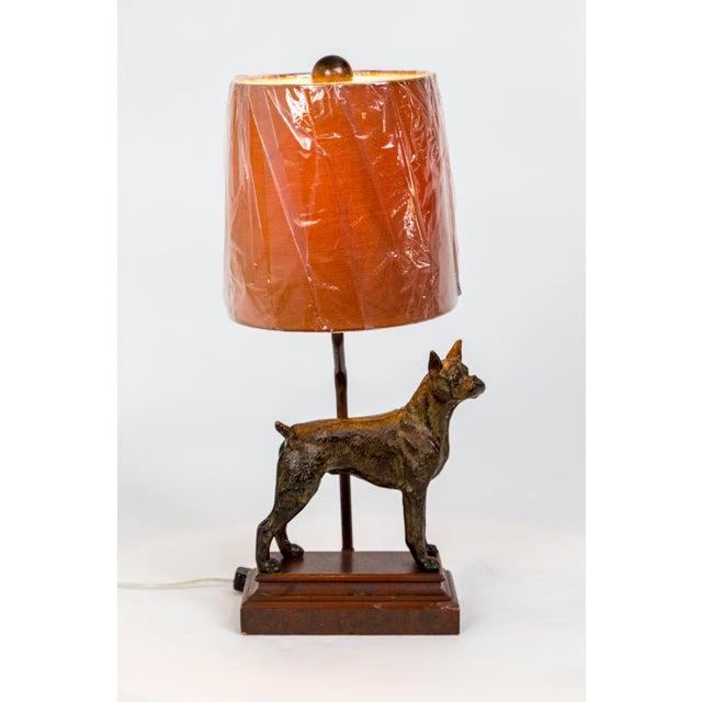 Cast Bronze Dog Sculpture Lamp For Sale - Image 4 of 12