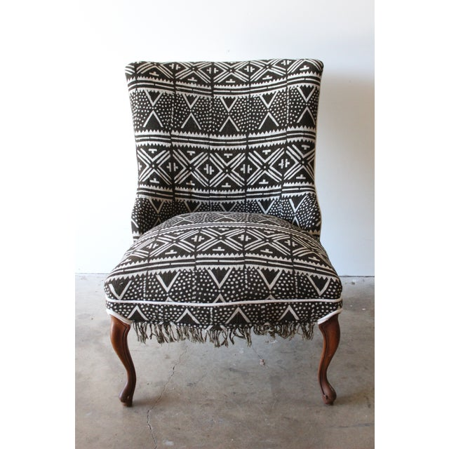 Vintage African Mudcloth Chairs - A Pair - Image 7 of 9