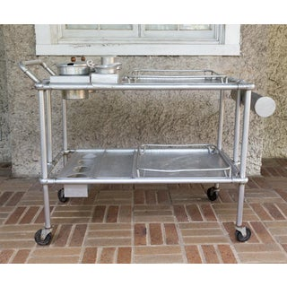 Mary and Russel Wright Aluminum Folding Tea or Bar Cart Preview