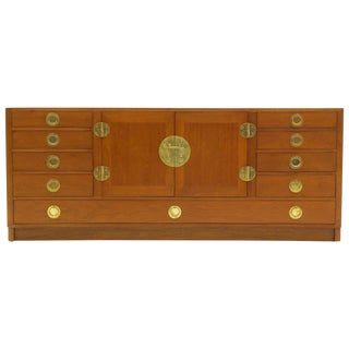 Cabinet / Credenza by Edward Wormley, Brass and Mahogany. Excellent Condition. For Sale