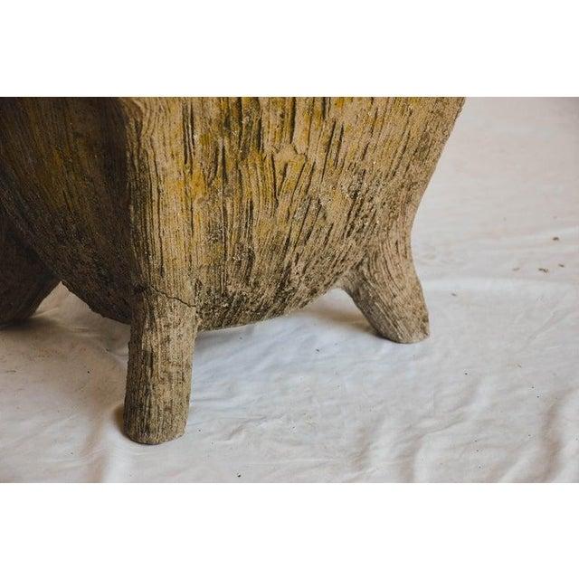 Sculpting Mid 20th Century Faux Bois Planter For Sale - Image 7 of 13