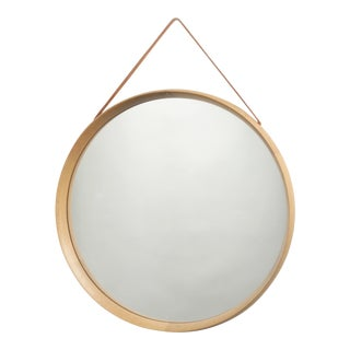 1960s Vintage Uno and Osten Kristiansson for Luxus Oak Mirror For Sale