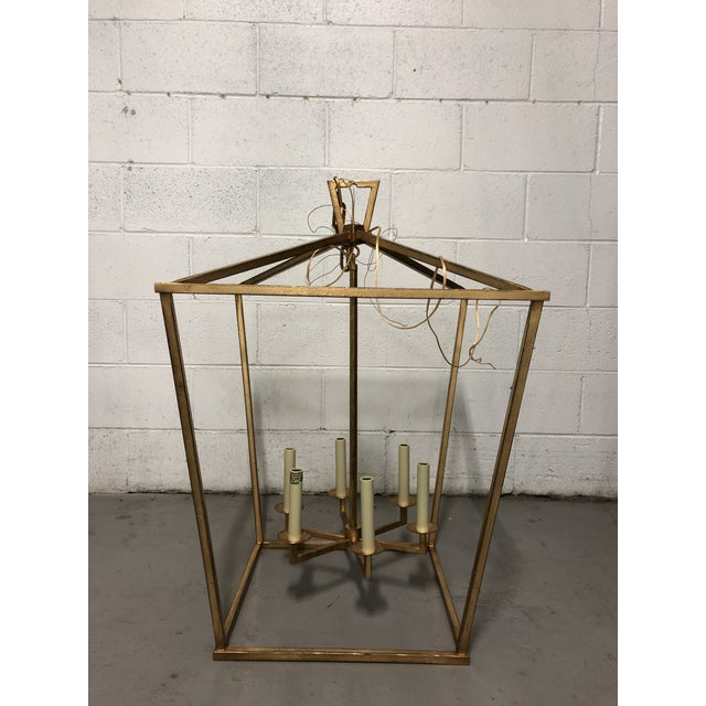 """Visual Comfort Visual Comfort """"Darlana"""" Large Lantern in Gilded Iron For Sale - Image 4 of 5"""