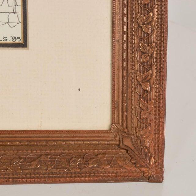 1940s Art Deco Period Brass Picture Frame , Grapevine Ornamentation For Sale - Image 5 of 10