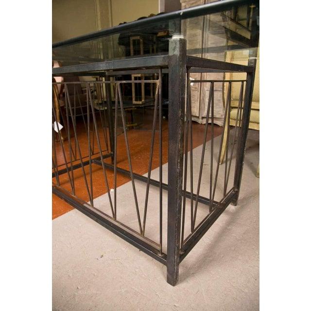 A Deigo Giacometti Style Metal Base Desk - Image 3 of 8