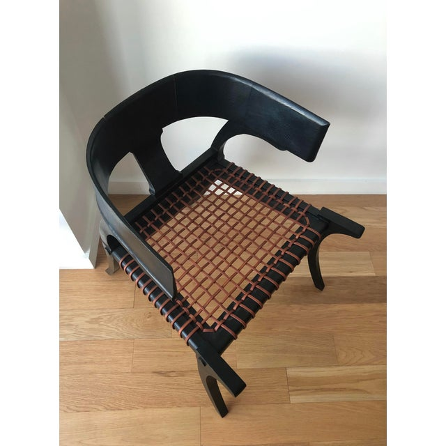 2010s D Klismos Chair in Black Lizard For Sale - Image 5 of 8
