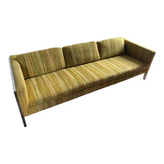 Vintage Mid Century Modern Sofa in the Milo Baughman Style For Sale