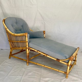 Vintage Rattan Chaise Lounge Chair Preview