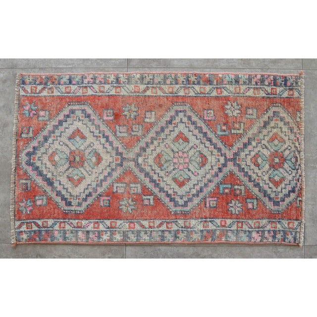 """Hand Knotted Door Mat, Entryway Rug, Bath Mat, Kitchen Decor, Small Rug, Laundry Decor Dimensions: 18.9"""" x 31.5"""" or 1 ft 7..."""