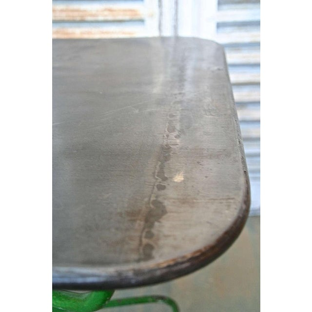 Forest Green Early 20th Century French Garden Table For Sale - Image 8 of 9