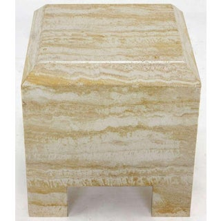 Custom Travertine End Table Preview