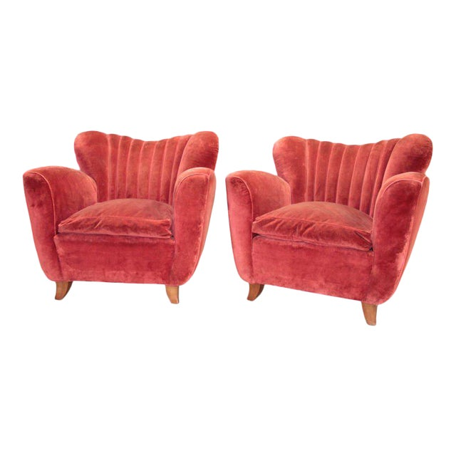 Italian Armchairs attributed to Guglielmo Ulrich For Sale