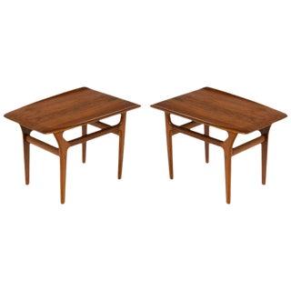 Pair of Danish Teak Mid-Century Modern Side Tables For Sale