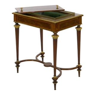 Antique French Marquetry Wine Serving Accent Table by Paul Sormani & Fils For Sale