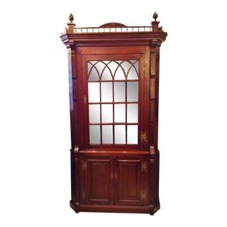 19th Century Victorian Corner Cabinet Cupboard For Sale