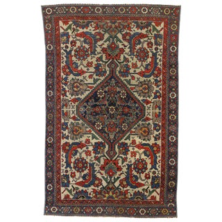 20th Century Turkish Rustic Distressed Persian Malayer Rug - 3′10″ × 6′ For Sale