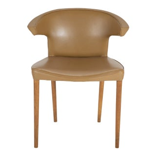 Oak & Leather Upholstered Chair Attributed to Frits Henningsen For Sale