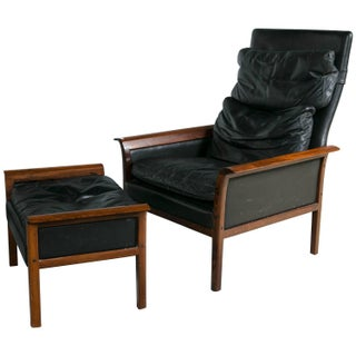 Danish Mid-Century Modern Lounge Chair And Ottoman For Sale